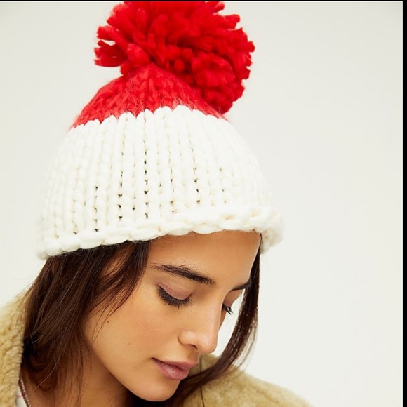 Free People Cozy Up Color Block Beanie Hat NWT